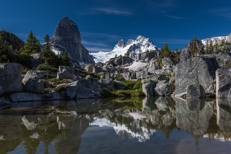 The Bugaboo Spire and the Howser Towers
