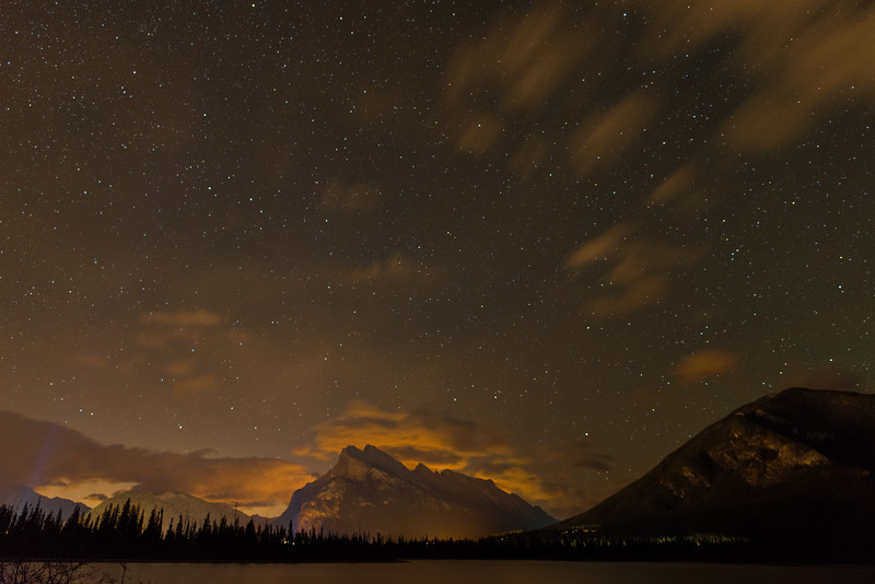Mt. Rundle and Banff under the Stars