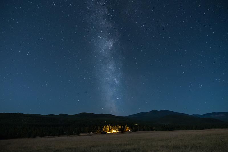 Milky way over the Farm Yard