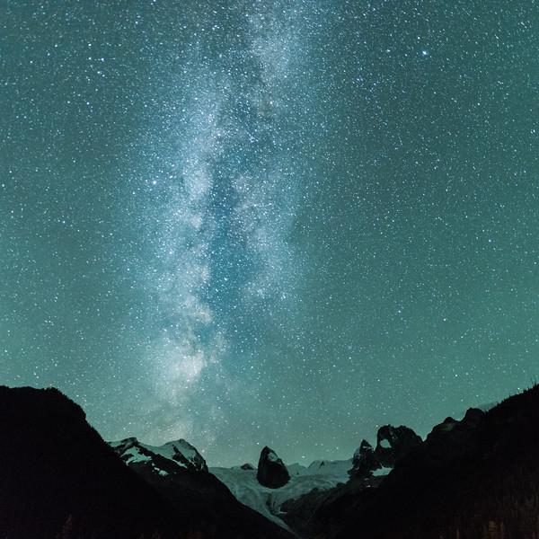 Milky Way of the Bugaboo Glacier