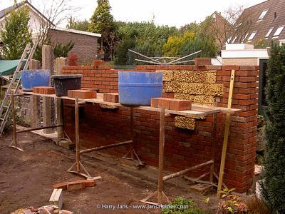 building the 2nd tufa wall