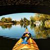Reflections passing under the Gelata Bridge