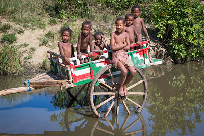 Children on a Farm Cart