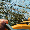 Self portrait paddling down the river