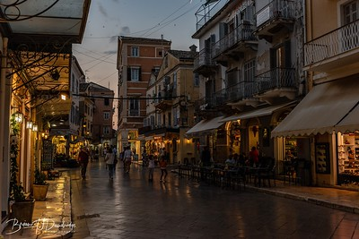 Evening draws in on Corfu Town