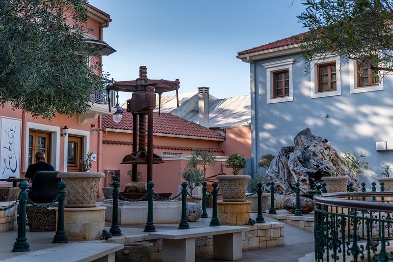 An olive-press (?) in a square in Fiskardo
