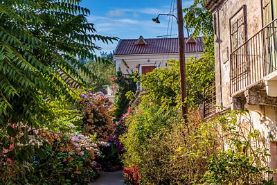 Up a side street in Fiskardo