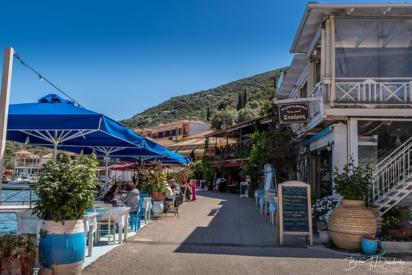 Quayside Tavernas at Sivota, Lefkada