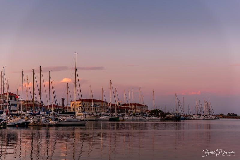 Evening Light over Lefkas Town Quay