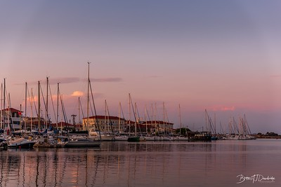 Evening Light over Lefkas Town Quay