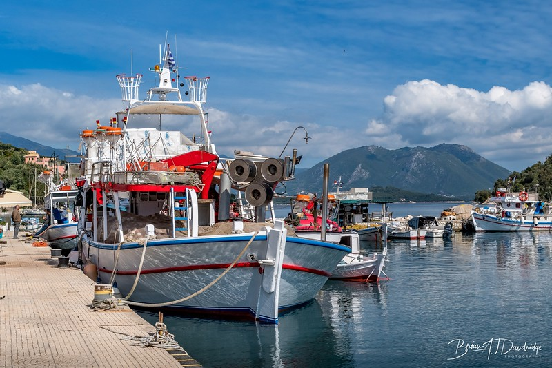 Fishing boats in Little Vathi