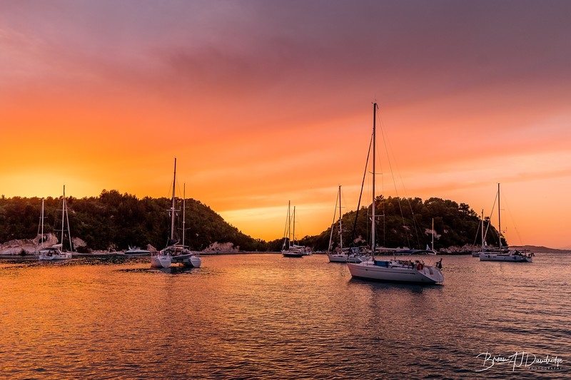 Sunset over Lakka, Paxos
