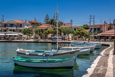 Fishing boats at the quay in Trizonia