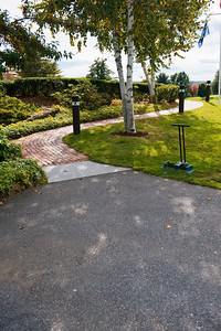 This is the wheelchair-accessible path to the banquet hall, which is off to the side from the main entrance.