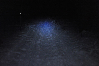 My headlamp is blue and white, evidently.