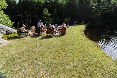 The lounge portion of the potluck. Most of the food is in the shade further up.