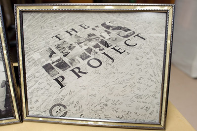 The signatures from the Quilt's visit at NEC.