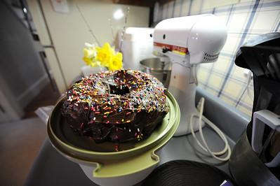 Margie provided the chocolate bundt cake.