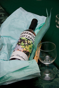 Props; a bottle from Underwood Vineyards.