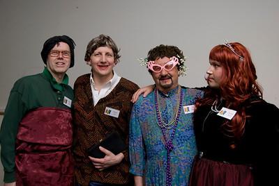 The company women: Hedy Chablis, Bonny Lass, Tiny Bubbles, and Marilyn Merlot.