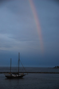 Didn't expect a rainbow, but sure enjoyed capturing it. I was sorry that I couldn't achieve a longer shutter.