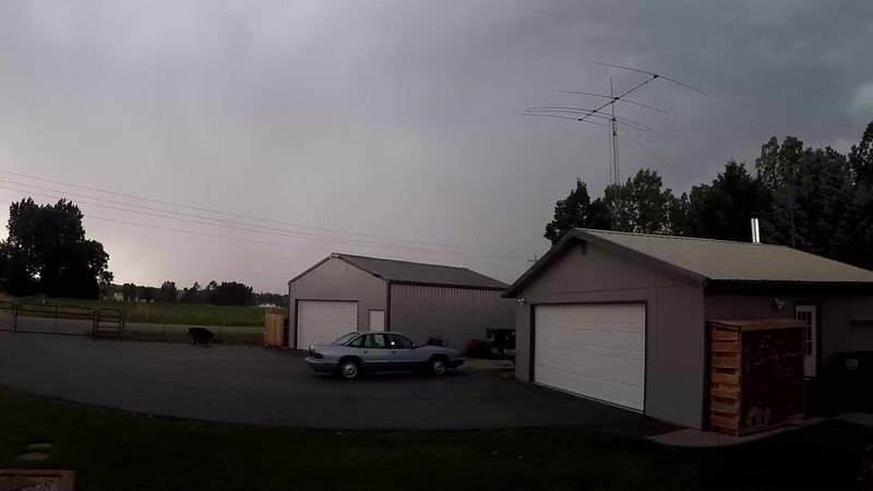 This is a  double speed video of the lightening in the Bitterroot Valley - August 2, 2019