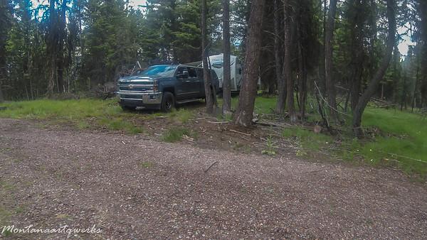 ki7hvg's camp set up