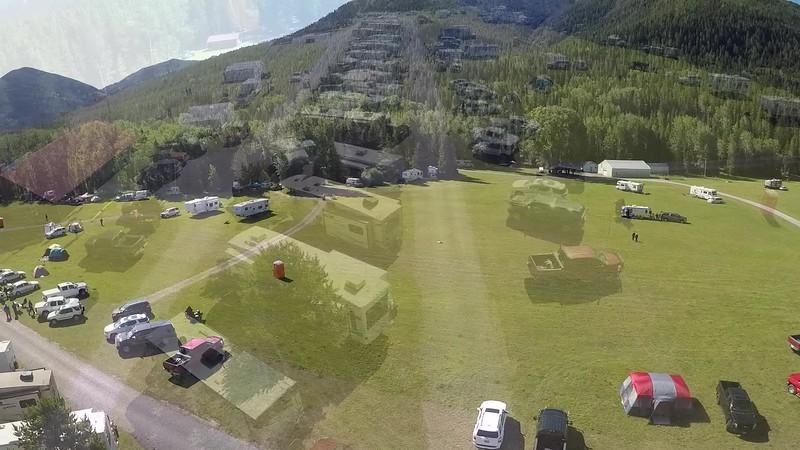 DRONE VIDEO OF GLACIER WATERTON HAM FEST SITE