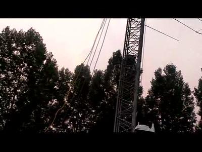 Raising the SteppIR Antenna (verticle)