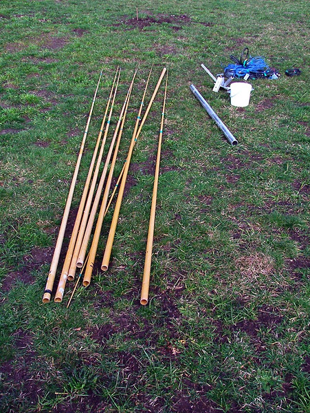 14' Fishing Rod Blanks for the Spreaders.