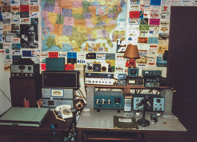 My 1st ham station  late 70's & early 80's  HW101 & SB200