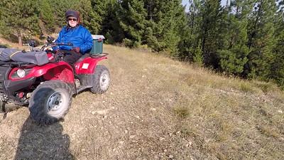 ATV breaks half way up to Bare Cone
