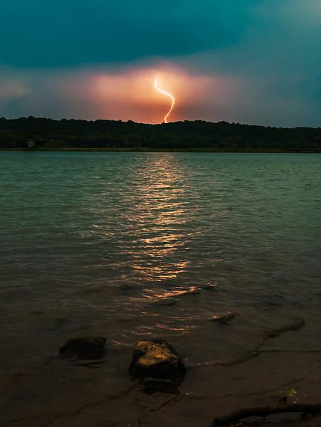 Lighting Strike Across the river