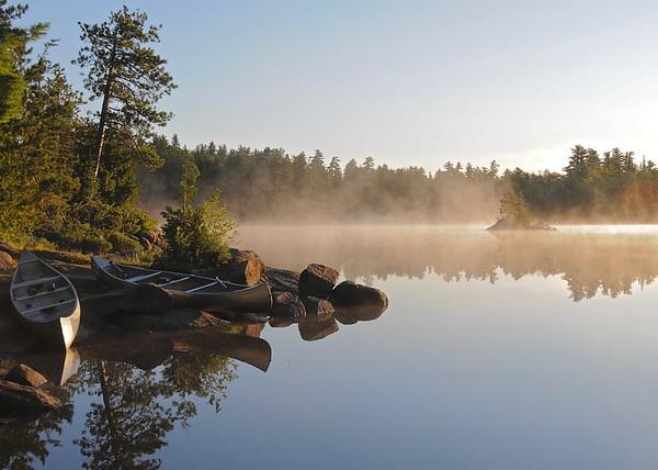 Morning Mist, Boundary Waters Canoe Area, Minnesota