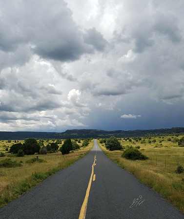 Highway 72 Between Folsom and Yankee, New Mexico