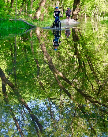 Biking a Watery Trail