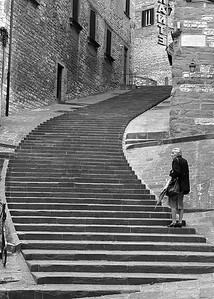 Stairway, Gubbio, Italy