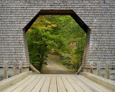 Wire Bridge, Carrabassett River, Maine