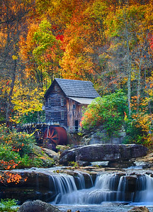 Glade Creek Grist Mill Vertical