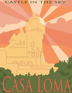 """Caitlin Knight, grade 11 """"Casa Loma"""" digital illustration 8.5""""x11"""""""