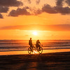Bike Riders at Sunset