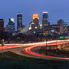 Downtown Minneapolis Skyline at Dawn