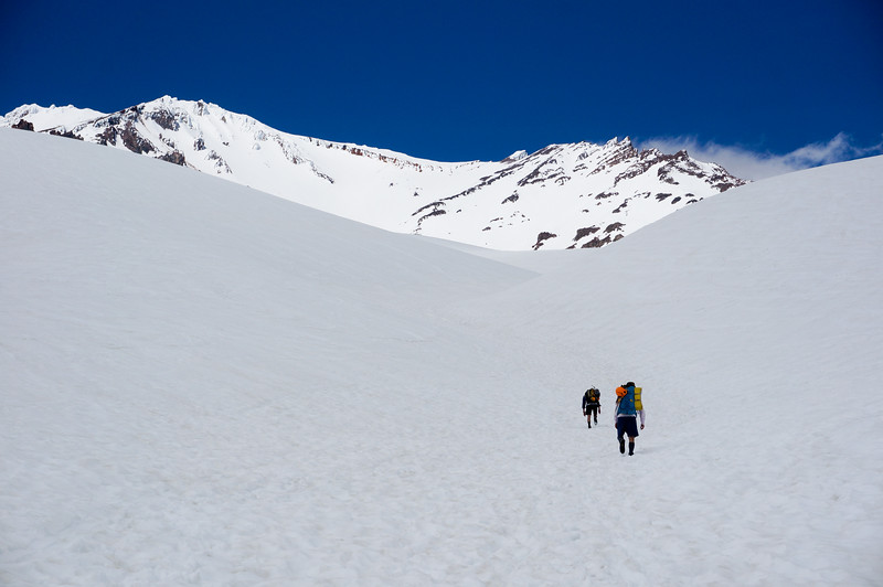 Heading to the top of Mt Shasta
