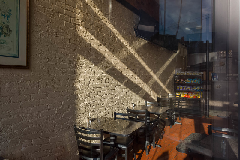 Early Morning Light At The Half Shell Cafe