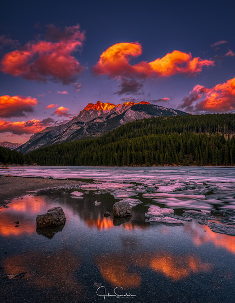 Sunset On The Rockies