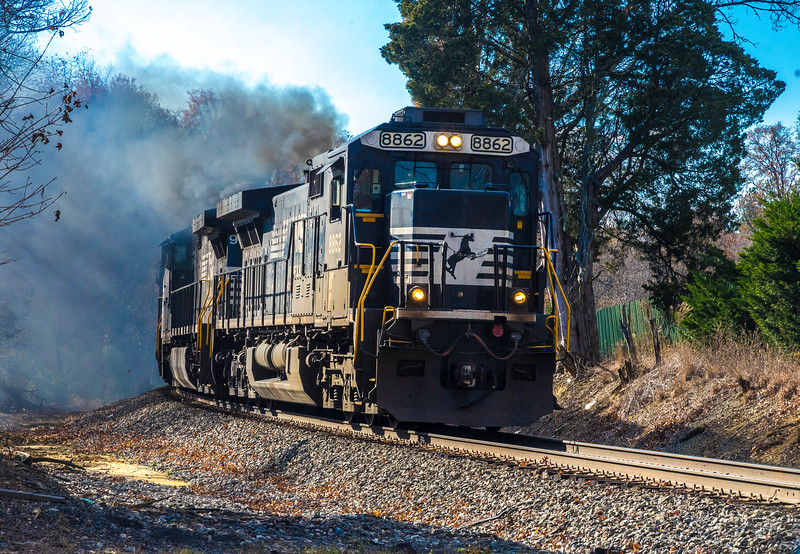 Norfolk Southern Coming Through Belvoir, VA