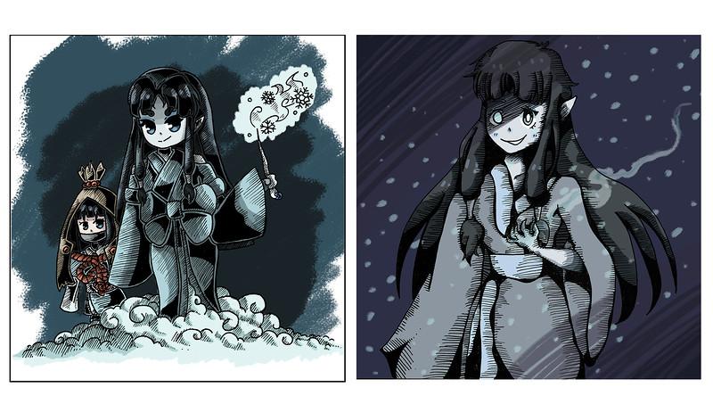 """Matthew Chi, grade 10 """"Yuki Onna"""" digital illustration 11""""x8.5"""""""