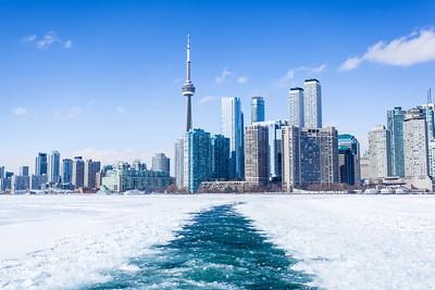 Winter over Toronto