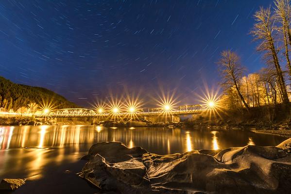 Passing time at the Old Skeena Bridge.