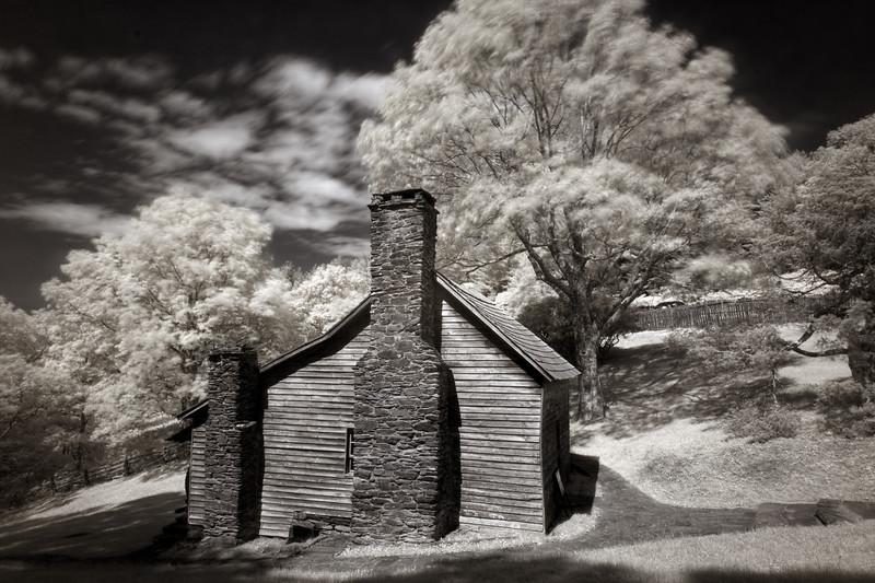 Brinegar Cabin, infrared-